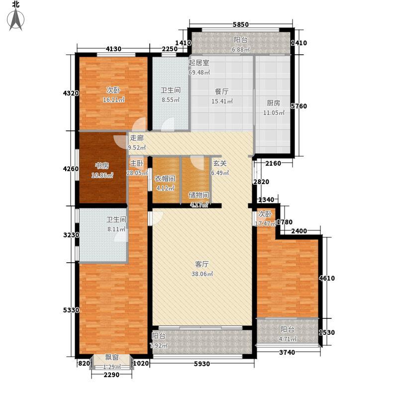 富丽紫金山庄220.00㎡户型4室2厅