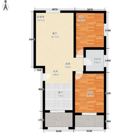 航天新都2室0厅1卫0厨99.00㎡户型图