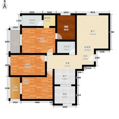 航天新都4室0厅2卫1厨164.00㎡户型图