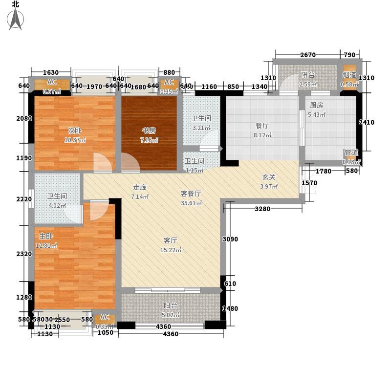 海怡天西城华府115.24㎡五期4、5号楼标准层4号房户型