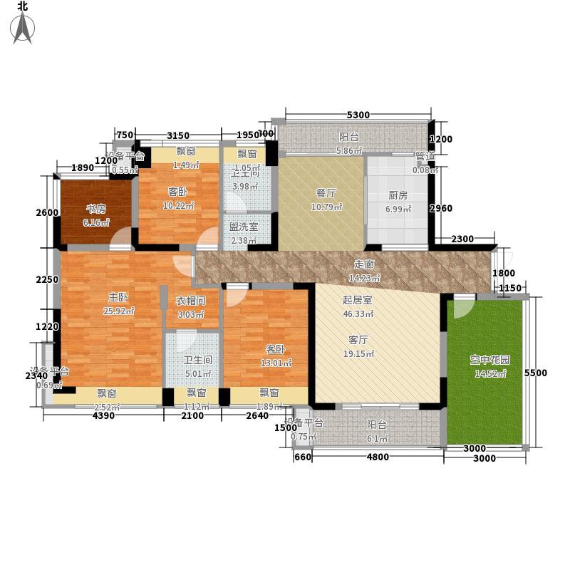 五矿紫湖香醍C户型4室2厅