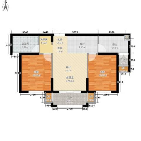 金色地中海2室0厅1卫1厨88.00㎡户型图