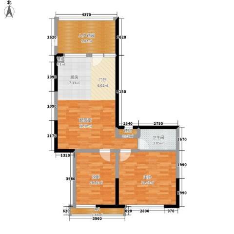 雪梨澳乡2室0厅1卫0厨70.23㎡户型图
