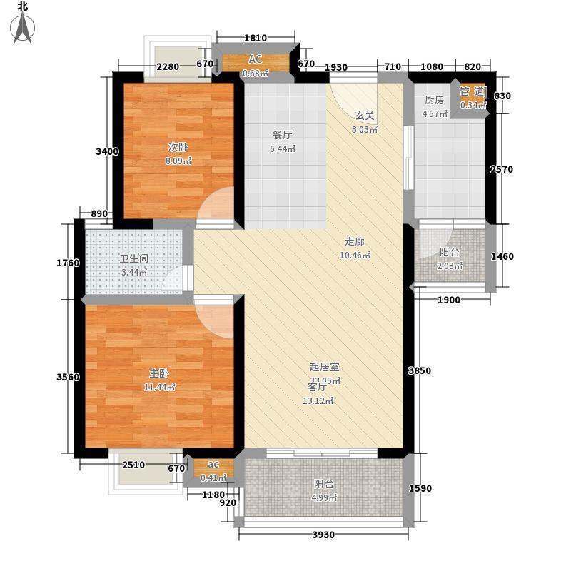 联发杏林湾一号94.16㎡联发杏林湾1号花园二期(A1地块)4#、5#、地下室4#楼20层04单元户型