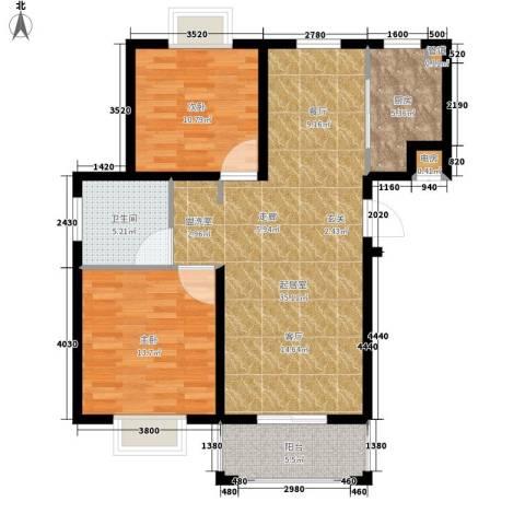 欣业嘉园2室0厅1卫1厨86.00㎡户型图