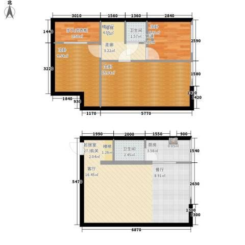 鑫秋大厦3室0厅2卫1厨76.00㎡户型图