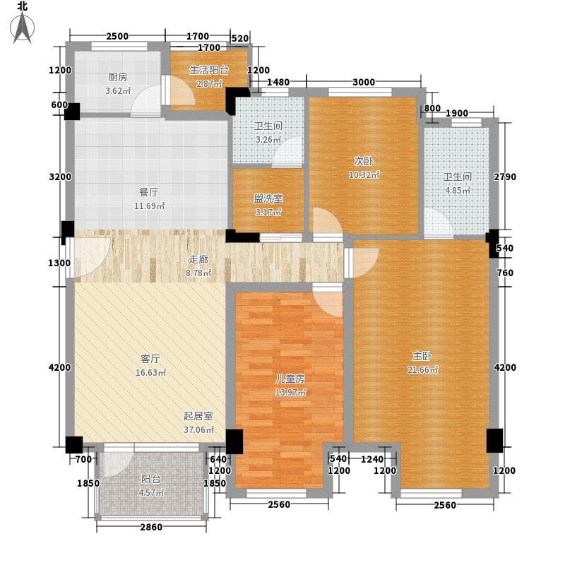 万科城市花园128.00㎡上东4区面积12800m户型