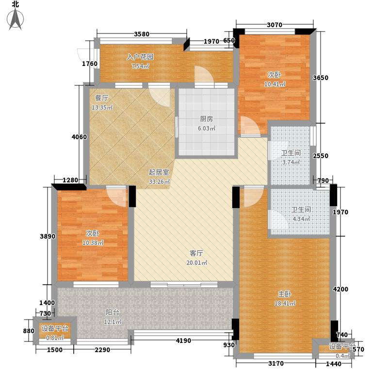 旭辉朗香郡105.84㎡一期2号楼B4-面积10584m户型