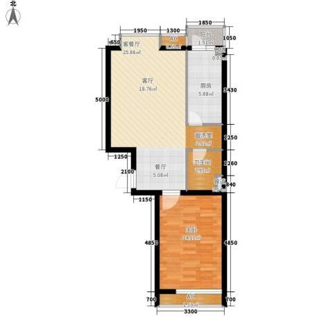 瑞雪春堂1室1厅1卫1厨66.00㎡户型图