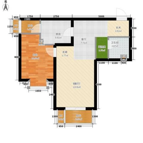 瑞雪春堂1室1厅1卫1厨69.00㎡户型图