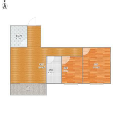 水泥制管厂家属院2室1厅1卫1厨70.00㎡户型图