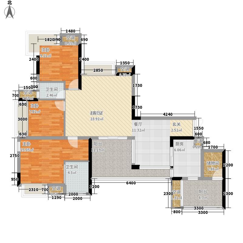强辉金色池塘129.48㎡三期14号楼面积12948m户型