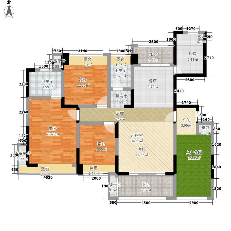 五矿紫湖香醍B04户型3室2厅
