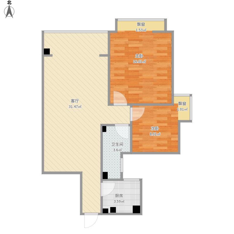 83平两室一厅