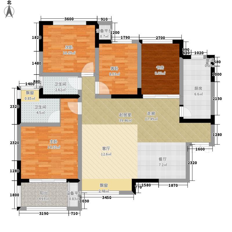 五矿紫湖香醍B02户型3室2厅