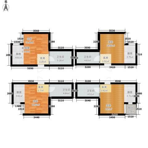 御笔华章3室0厅4卫0厨88.71㎡户型图
