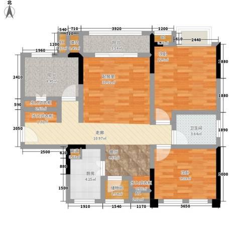 仁安龙城国际三期2室0厅1卫1厨78.00㎡户型图