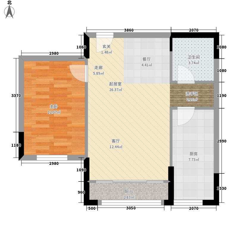 金象泰吉祥家园洋房C2户型1室2厅
