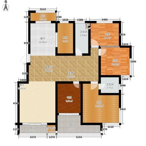 东方城4室1厅2卫1厨146.00㎡户型图