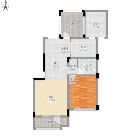 中铁・人杰水岸1室1厅1卫1厨110.00㎡户型图