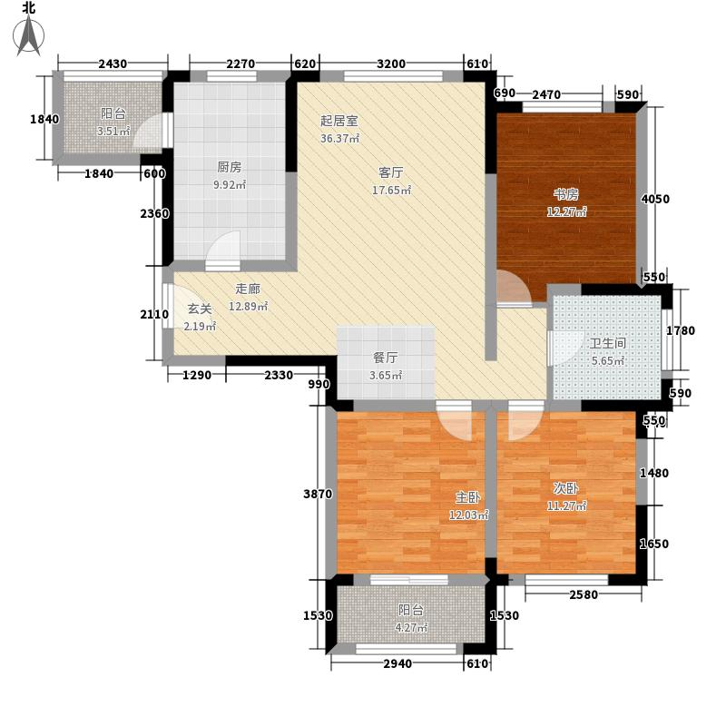 金象泰吉祥家园洋房C1户型3室2厅