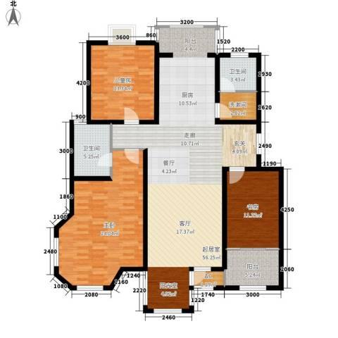 第六大道第博雅园3室0厅2卫0厨148.00㎡户型图