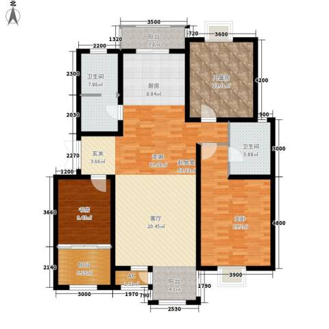 第六大道第博雅园3室0厅2卫0厨149.00㎡户型图
