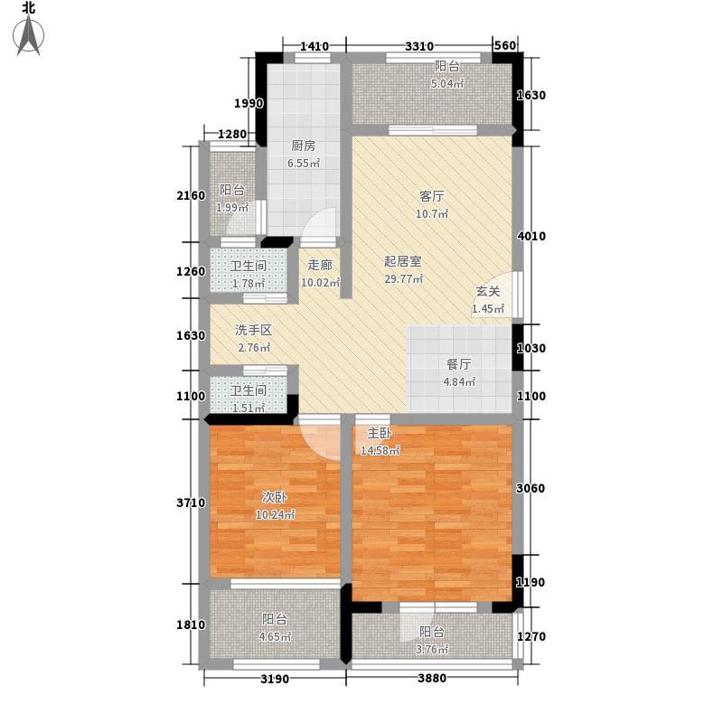 金象泰吉祥家园洋房C3户型2室2厅