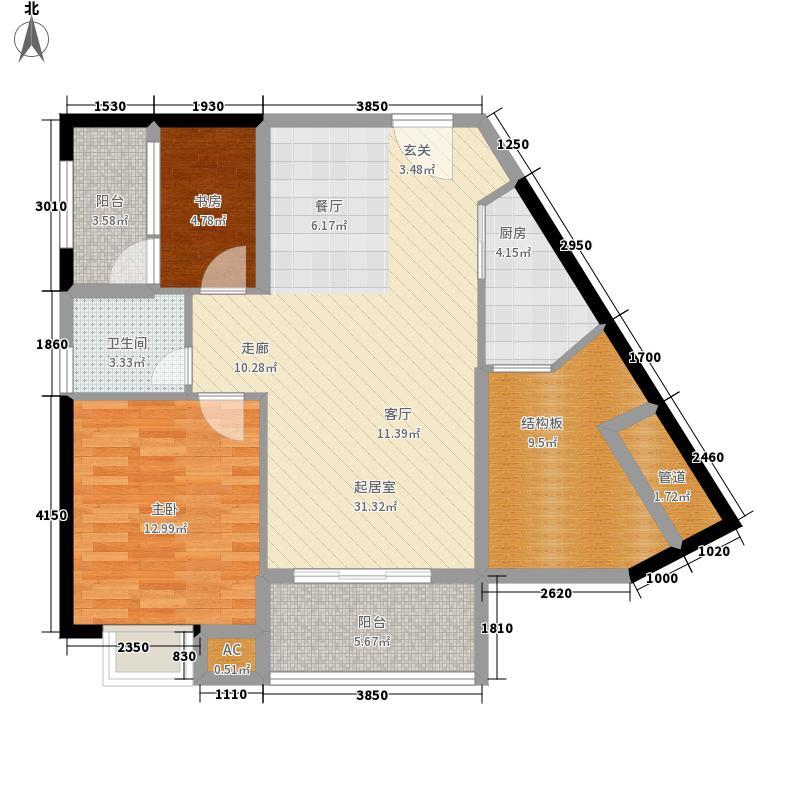 联发杏林湾一号89.00㎡8#楼02户型2室2厅