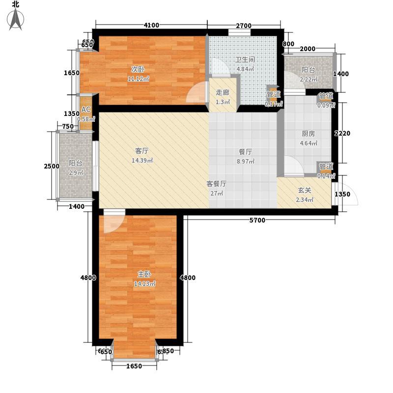瑞雪春堂90.72㎡b7(二期)2面积9072m户型