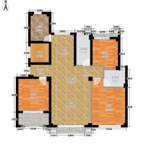 逸水园3室1厅2卫1厨113.35㎡户型图