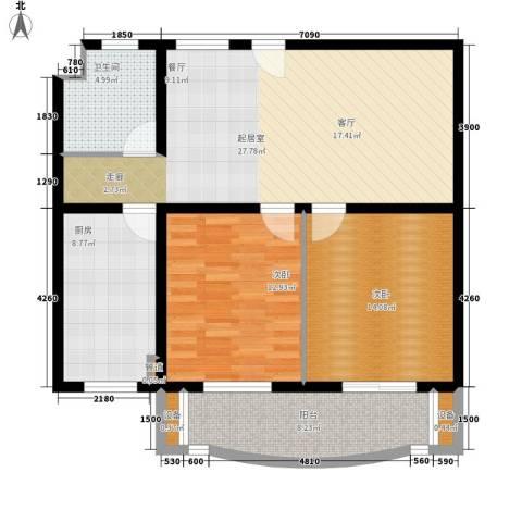 金裕青青家园2室0厅1卫1厨100.00㎡户型图