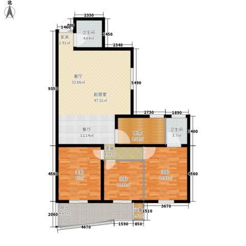 金裕青青家园3室0厅2卫1厨135.00㎡户型图