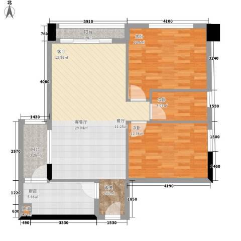 富力半岛花园3室1厅0卫1厨78.00㎡户型图