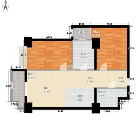 幸福逸家2室1厅1卫1厨92.00㎡户型图