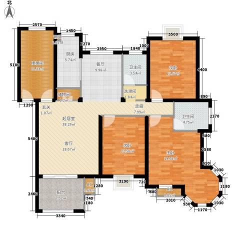 金色地中海3室0厅2卫1厨170.00㎡户型图