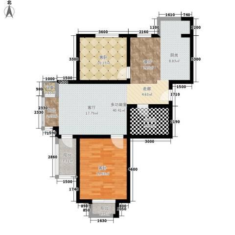 盛唐府邸2室0厅1卫0厨100.00㎡户型图
