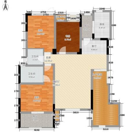 泽胜温泉城3室1厅2卫1厨160.00㎡户型图