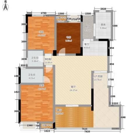 泽胜温泉城3室1厅2卫1厨165.00㎡户型图