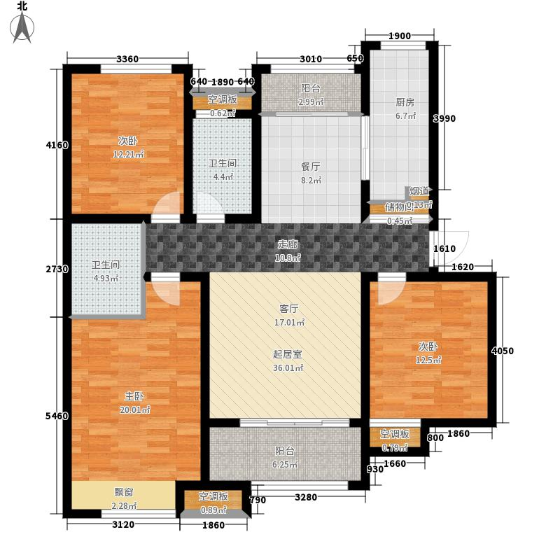 泉景天沅126.00㎡4号楼2单元03户面积12600m户型