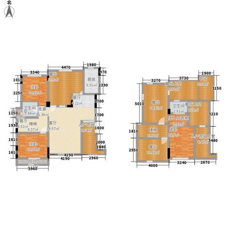 泽胜温泉城3室1厅2卫1厨245.00㎡户型图