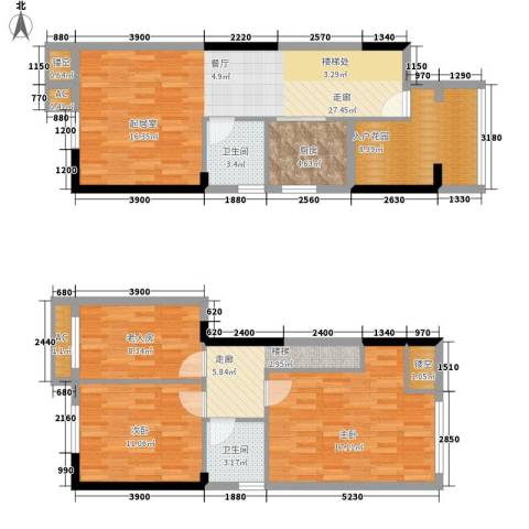 雪梨澳乡3室0厅2卫1厨93.18㎡户型图