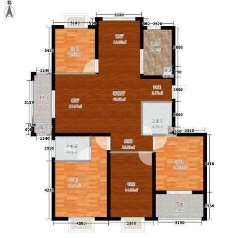 欣业嘉园4室1厅2卫1厨146.00㎡户型图