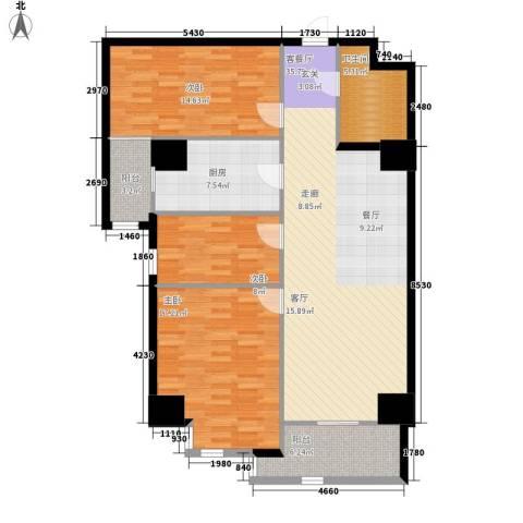 幸福逸家3室1厅1卫1厨112.00㎡户型图