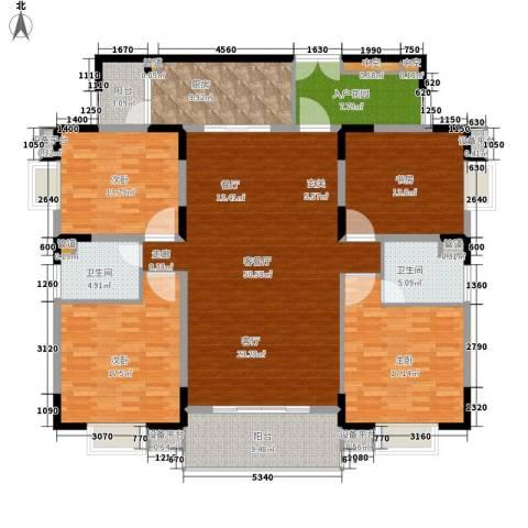 兴豪门4室1厅2卫1厨220.00㎡户型图