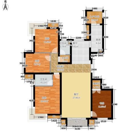 天山花园4室1厅3卫1厨240.00㎡户型图