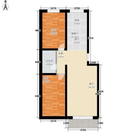 民和文苑2室1厅1卫0厨115.00㎡户型图