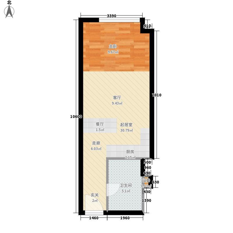 创新商务公寓40.00㎡面积4000m户型