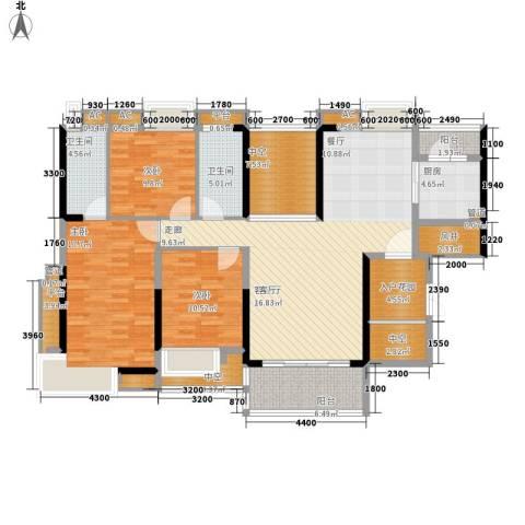 番禺云山诗意3室1厅2卫1厨138.00㎡户型图