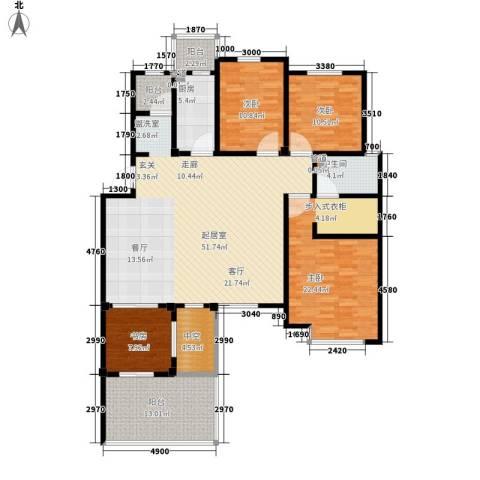 洪城比华利4室0厅1卫1厨189.00㎡户型图